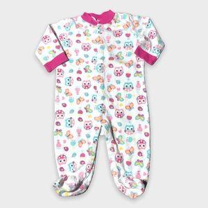 4/$20🥳 Owl Print Long Sleeve Cotton Pink Sleeper